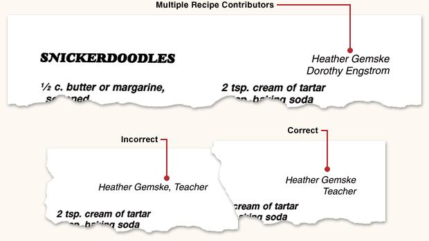 Writing Sorting Recipes Morris Press Cookbooks