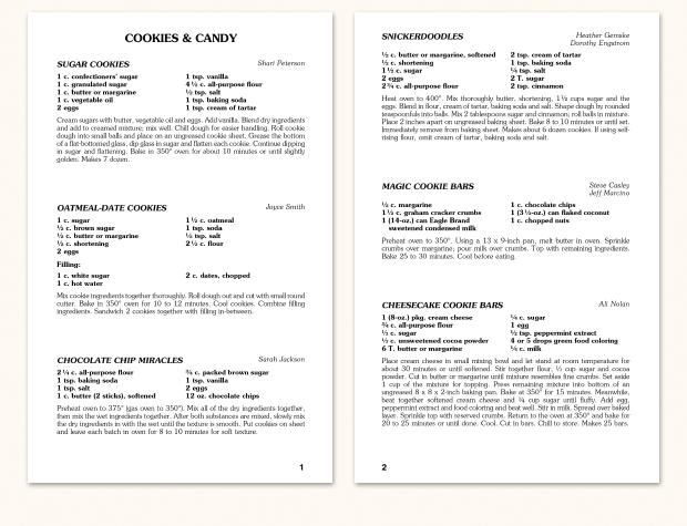 recipe format f15