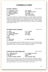 Recipe Formats Morris Press Cookbooks