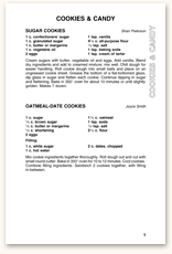 Recipe Page Format F1