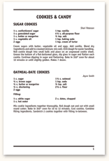 Recipe Page Format F21