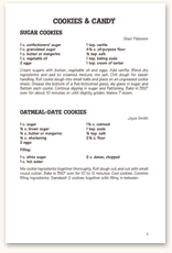 Recipe Page Format F22
