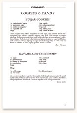 Recipe Page Format F23