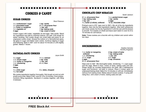 Recipe Format F4 Morris Press Cookbooks